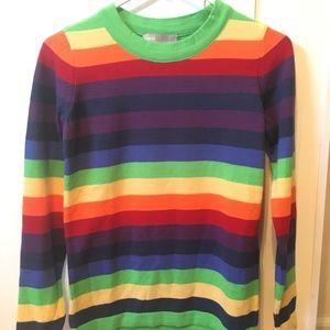 ASOS Rainbow Striped Sweater